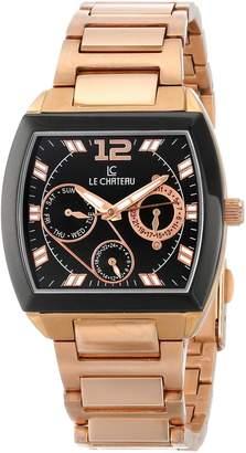 Le Château Men's 5420M_BLK Sports Dinamica Collection Rose-Gold Watch