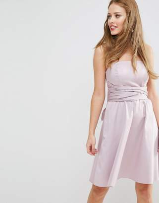 Asos Design Bridesmaid Structured Mini Dress With Bow Detail