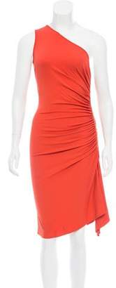 Michael Kors Ruched One-Shoulder Dress