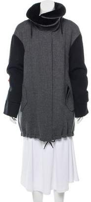 Akris Punto Fur-Trimmed Wool Coat