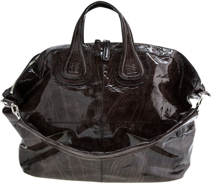 Givenchy X-Large Patent Nightingale - Faded Black