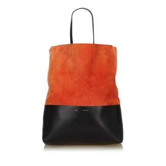 Celine Cabas Orange Suede Handbag