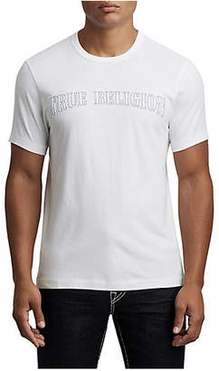 True Religion MENS TR FELT LOGO THREAD TEE