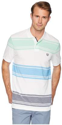 Chaps Short Sleeve Stripe Birsdeye Polo Men's Clothing