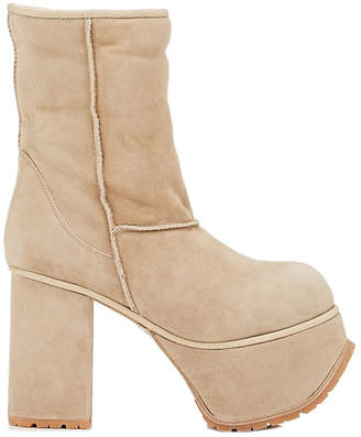 R 13 Shearling Platform Boot