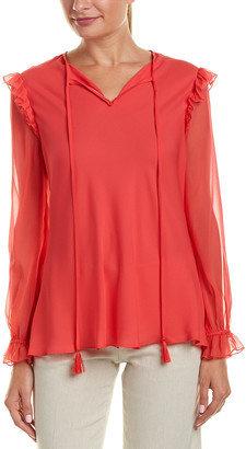 Elie Tahari Silk Top