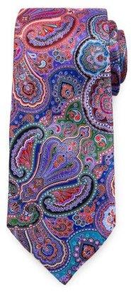 Ermenegildo Zegna Quindici Paisley Tie, Purple $285 thestylecure.com