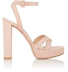 Gianvito Rossi Women's Suede Platform Sandals - Pink