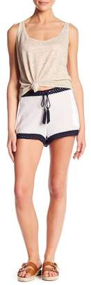 Young Fabulous & Broke Horizon Crochet Trim Shorts