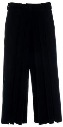 Adelina RUSU - Black Cotton Velvet Pleated Pants