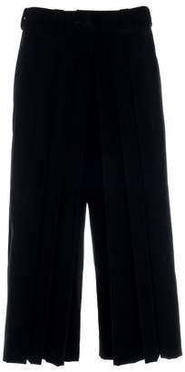 Adelina RUSU - Black Cotton Velvet Pleated Pants