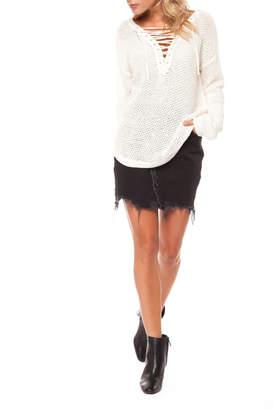 Dex White Knit Sweater