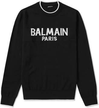 Balmain Logo Intarsia Knit
