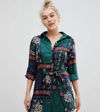 Parisian Petite scarf print shirt dress