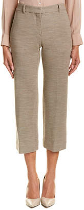 Helmut Lang Silk-Lined Wool Pique Crop Pant