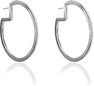 Liza Schwartz Jewelry Glitzy Pac-Man Hoop Earrings
