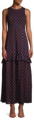 NSR Dot-Print Maxi Dress