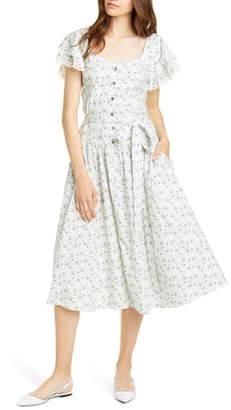 Rebecca Taylor Poppy Fields Belted Dress