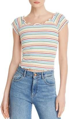 Aqua Rainbow-Stripe Smocked Top - 100% Exclusive