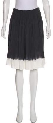Prada Ombre Pleated Mini Skirt