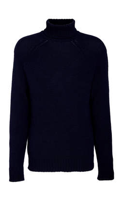 Ralph Lauren Ribbed Cashmere Turtleneck Sweater