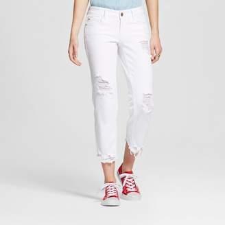 Dollhouse Women's Destructed Frayed Hem Crop Jeans - Dollhouse (Juniors') $34.99 thestylecure.com