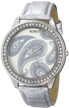 XOXO Women's XO3184 Dial Crocodile Genuine Leather Watch