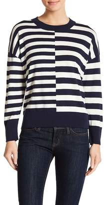 Equipment Melanie Crew Neck Striped Sweater