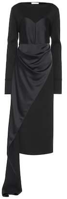 Maison Margiela Satin and jersey dress