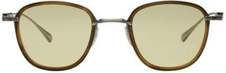 Mr. Leight SSENSE Exclusive Brown and Yellow Griffith Sunglasses