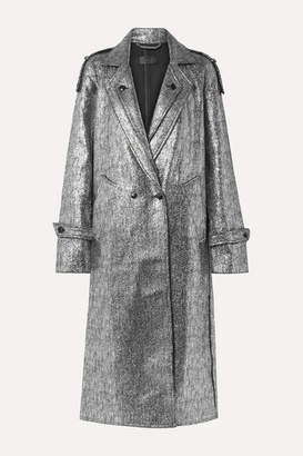 RtA Andi Metallic Tweed Coat - Silver