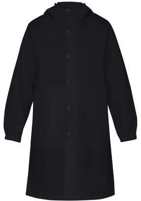 Helmut Lang Upcycled Hooded Logo Print Raincoat - Mens - Black