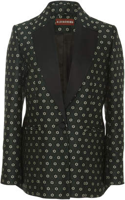 ALEXACHUNG Shawl Collar Jacquard Suit Jacket