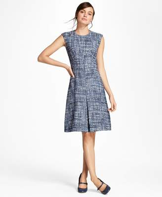 Brooks Brothers Petite Shimmer Boucle Dress