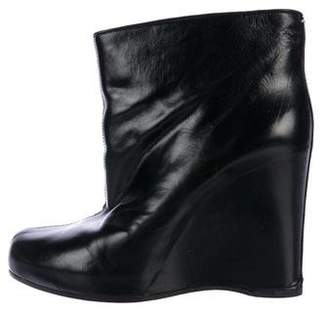Maison Margiela Leather Wedge Booties