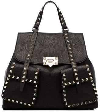 Valentino black Rockstud leather backpack