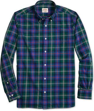 Brooks Brothers Mens Slim Fit Flannel Tartan Shirt