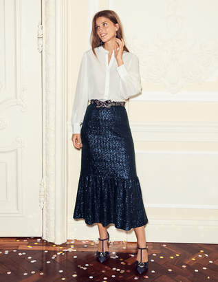 Boden Sequin Midi Skirt
