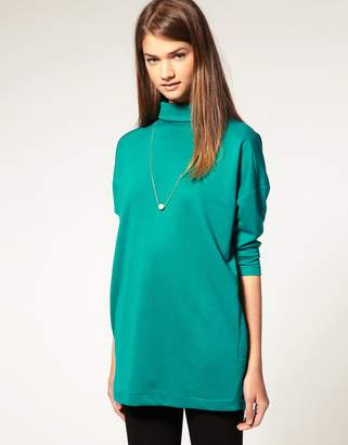 Asos Design Rounded Shoulder Tunic