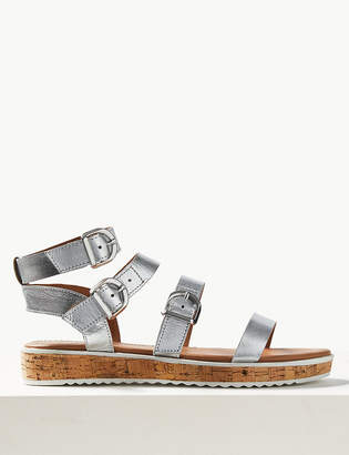 Pixi M&S CollectionMarks and Spencer Leather Flatform Heel Gladiator Sandals