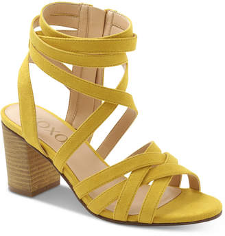 XOXO Eden Block-Heel Dress Sandals Women Shoes