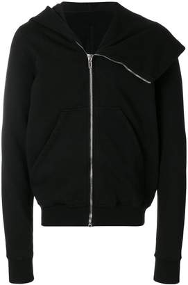 Rick Owens asymmetric collar hoodie