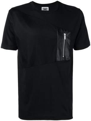 Les Hommes Urban chest zip T-shirt