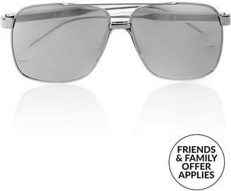 Versace Men's Bridge Navigator Sunglasses -Silver