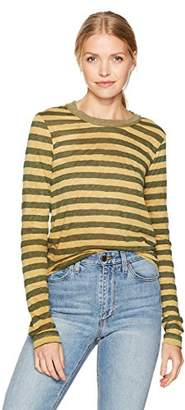 Stateside Women's Painterly Charcoal Stripe L/s Top
