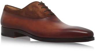 Magnanni Leather And Suede Oxford Shoes
