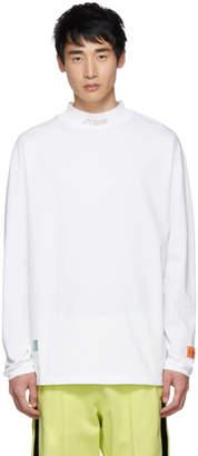Heron Preston White Style Mock Neck Long Sleeve T-Shirt