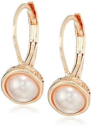 The Sak Women's Faux Pearl Lever Back Drop Earrings