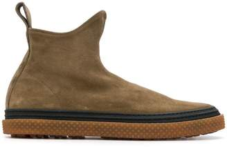 Buttero slip-on suede boots