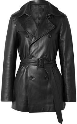 Nili Lotan Rose Leather Trench Coat - Black